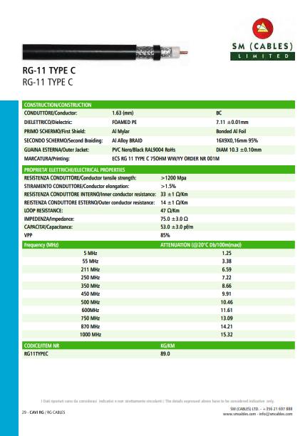 RG-11 TYPE C