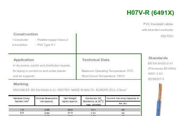 H07V-R (6491X)