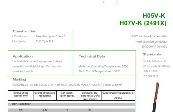H07V-K (6491X)