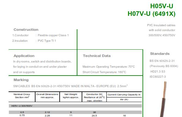 H07V-U (6491X)